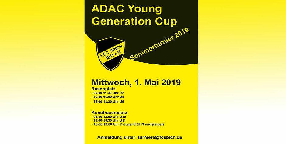 ADAC Young Generation Cup: 1.FC Spich Sommerturnier