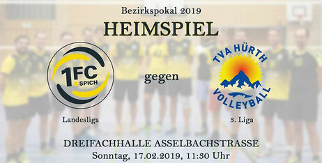 Bezirkspokal 2019: 1. FC Spich Herren Volleyball : TVA Hürth Volleyball