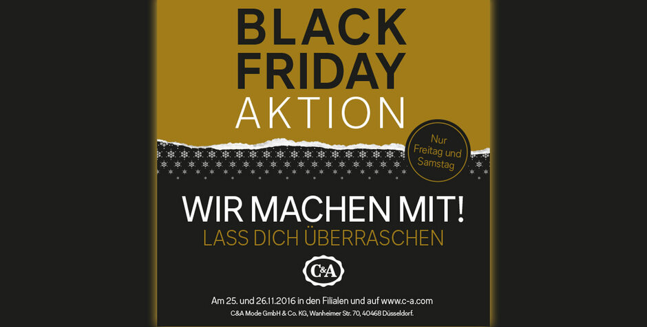 Troisdorf City Black Friday Bei C A C A Mode In Der Galerie