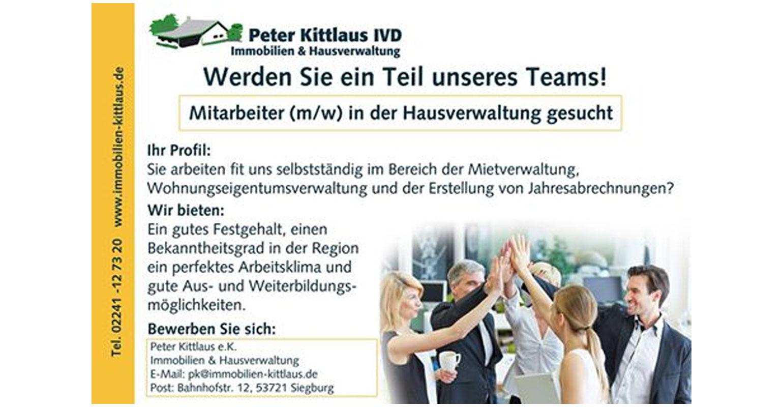 Troisdorf city mitarbeiter gesucht bei kittlaus for Immobilienmakler gesucht