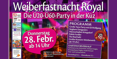 Weiberfastnachtsparty Royal 2019