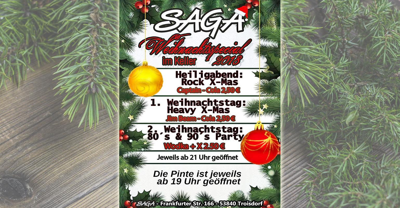 Troisdorf City | Weihnachtsspecial im SAGA | Pinte und Rockdisco SAGA
