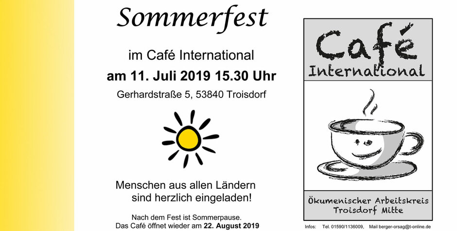 Sommerfest im Café International