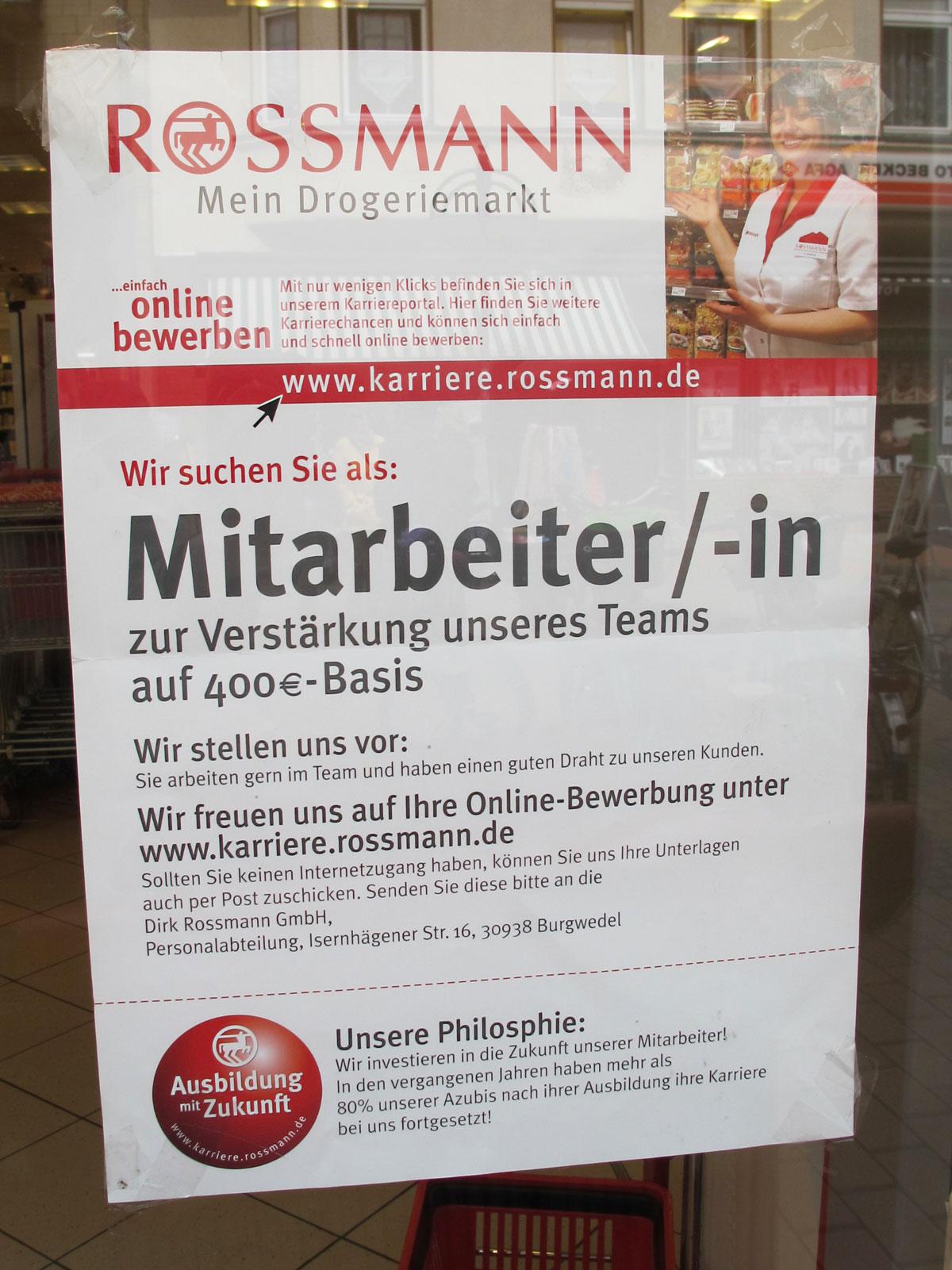 troisdorf city mitarbeiter in gesucht bei rossmann rossmann der drogeriemarkt - Rossmann Online Bewerbung