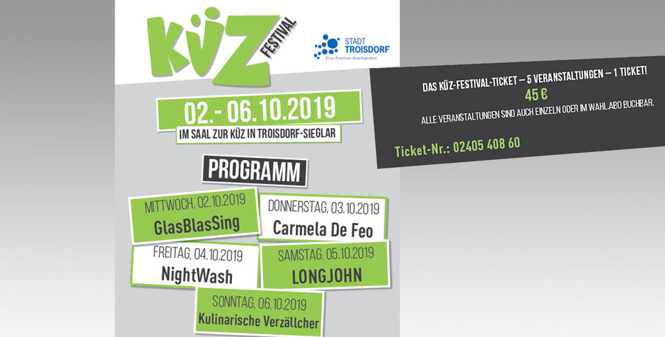 KÜZ-Festival 2019: GlasBlasSing - Flaschmob