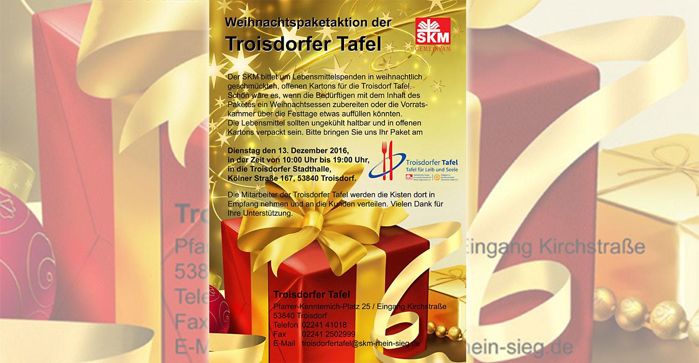 Troisdorf City | Weihnachts-Paketaktion der Troisdorfer Tafel ...